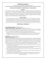 Supply Chain Management Resume Sample by Shipping Logistics Manager Resume Contegri Com