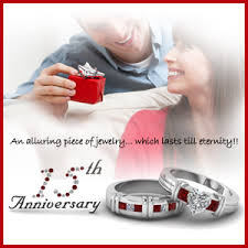 15th anniversary gifts your 15th anniversary with a ruby the gem of