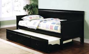 daybeds wonderful dark wood daybed awesome trundle on black