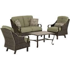 Patio Furniture Seating Sets - ventura 4 piece seating set in vintage meadow ventura4pc