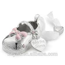 silver plated alloy shoes hanging ornament buy
