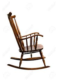 A Rocking Chair Vintage Damaged Rocking Chair Right Side Stock Photo Picture
