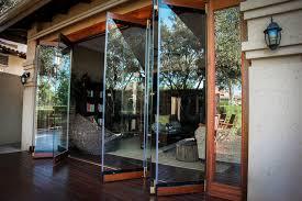Frameless Patio Doors Innovative Accordion Glass Windows With Folding Exterior Doors Bi