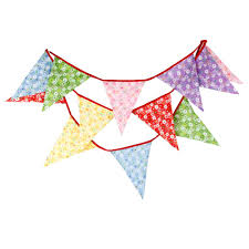 Safety Pennant Flags New Colorful Fabric Flags Bunting Pennant Party Decoration Banner