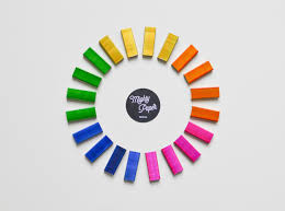 rainbow staples multicolored staples colorful staples
