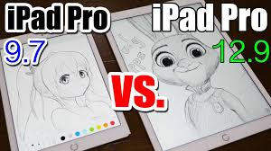 ipad pro 9 7 vs 12 9 apple pencil drawing comparison which is