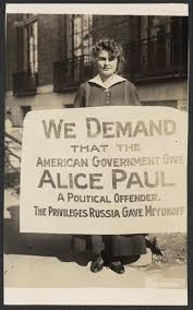 lucy branham protests the political imprisonment of alice paul