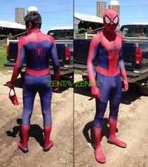 Spiderman Costume Halloween Amazing Spider Man 2 Replica Zentai Costume 3d Muscle Shades