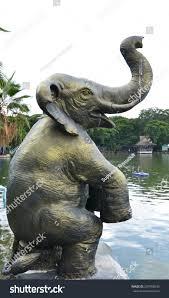 Elephant Statue Elephant Statue Show Long Nose Let Stock Photo 207958930
