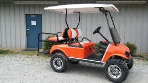 orange cars 2016 2012 club car precedent electric 6 u2033 lift black sold peebles golf