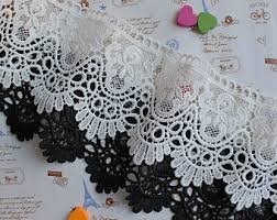 lace ribbon by the yard crocheted trim etsy
