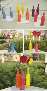 Diy Wine Bottle Decor by Diy Wine Bottle Centerpieces Ruffled