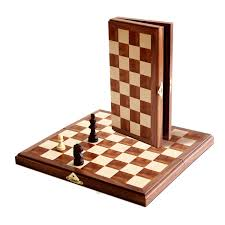 amazon com we games folding wood chess set magnetic 11 inches
