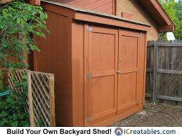 How To Build A Garden Shed From Scratch by Lean To Shed Plans Easy To Build Diy Shed Designs