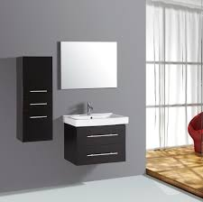 Bathroom Cabinets  Lusso Stone Noire Wall Hung Bathroom Cabinet - Designer bathroom cabinets mirrors