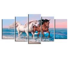 online get cheap 1 piece running horses wall painting aliexpress