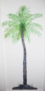9 best murals for wooden fence images on pinterest beach mural a palm tree enhances a hall tree muralswall