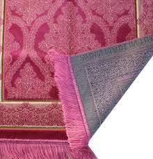 plush velvet majestic prayer rug pink islamicprayerrug