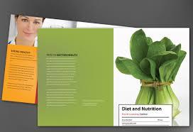 nutrition brochure template half fold brochure template for health and nutrition order custom
