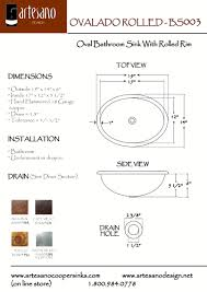 bathroom sink rough in dimensions http wwwartesanocoppersinkscom