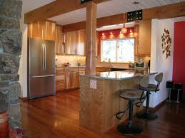 Small Kitchen Design With Peninsula Kitchen Peninsula Baseboard Transition Sitting Area On End