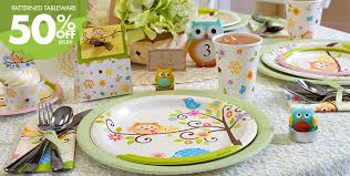 baby shower tableware owl baby shower party supplies party city