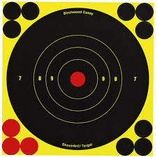 birchwood casey shoot n c self adhesive bull s eye 8 target 30