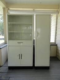 vintage glass front kitchen cabinets 2 vtg 1950 s artcrest metal kitchen cabinets white glass