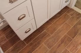bathroom wood grain tile flooring interior design ideas