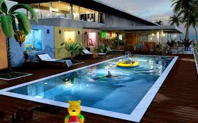 Tropical Backyard Designs Decoration Attractive Above Ground Pool Backyard Ideas Design