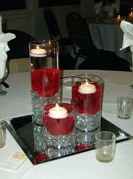 black and white centerpieces white floating candles black white wedding centerpieces