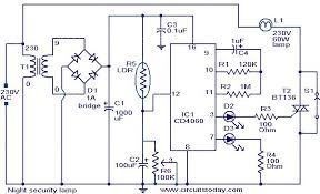 night security light electronic circuits and diagram electronics