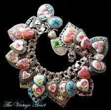vintage heart bracelet images 142 best charms charm bracelets images jewelry jpg