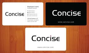 modern professional business card design for concise systems llc