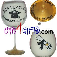 graduation wine glasses eye4gifts graduation congratulations wine glass graduation gift