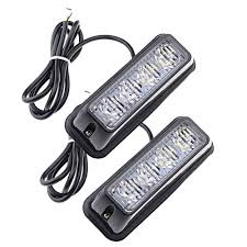 Cheap Emergency Lights 4led White Car Truck Front Rear Bumper Emergency Flashing Alarm