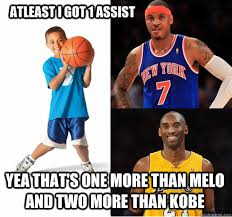 Nba Meme - atleast i got 1 assist yea that s one more than melo and two more
