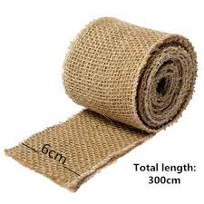 wholesale burlap ribbon wholesale 300x6cm vintage linen fabric jute hessian burlap