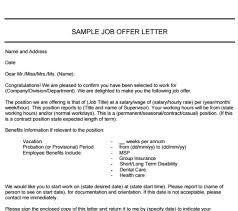 9 websites to get free job offer letter template