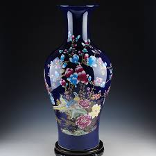 pheasant home decor jingdezhen ceramic blue pheasant vase modern chinese french