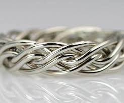 braided ring six strand open weave braided wedding rings by artist todd alan