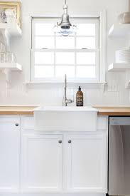Small White Shelves by Shelves Over Kitchen Sink Design Ideas