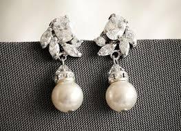 bridal earrings wedding swarovski crystal chandelier bridal