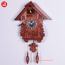 beautiful handcrafted solid wood wall cuckoo clock with cuckoo