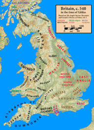 Kent England Map by Dark Age History Reconstructing Late Sixth Century British