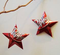 dr pepper ornaments soda can upcycled repurposed
