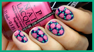 easy rose print nail art with just a toothpick youtube