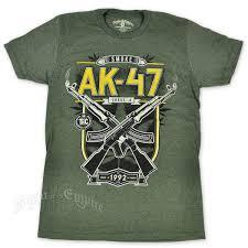 Flag With Ak 47 Seven Leaf Ak 47 Strain Heather Military Green T Shirt U2013 Men U0027s