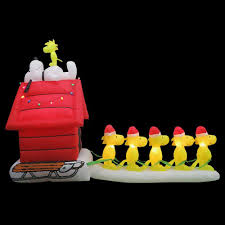 snoopy christmas lights outdoor sacharoff decoration