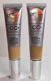 chemical tan it cosmetics your skin but better cc cream medium and tan